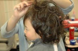 半田市 創寫館で髪をセットして撮影