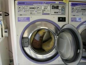 12kgの洗濯機で洗う