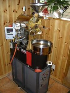 コーヒーの焙煎機