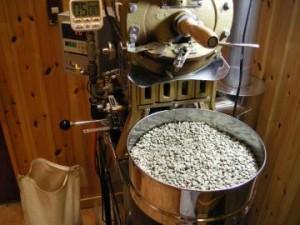 生豆のほこり飛ばし