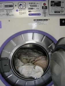 羽毛布団、洗濯終了