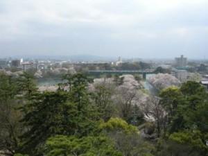 岡崎城天守からの眺め