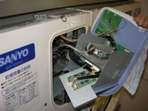 8号台大型乾燥機 カードリーダー交換