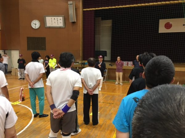 第41回西成岩区町内対抗ソフトバレーボール大会 西成岩公民館長さんの挨拶