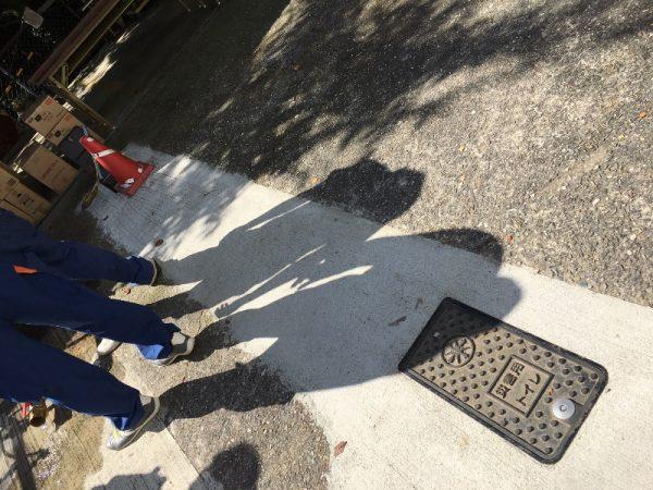 下水道直結の災害用トイレ用マンホール