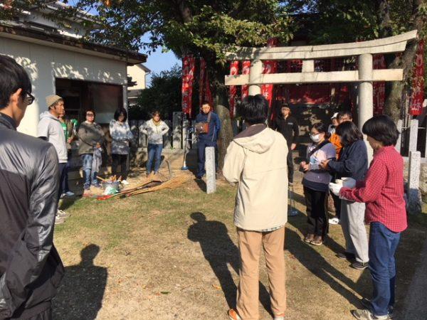 秋のはんだクリーン作戦 児宮春日神社の清掃活動3
