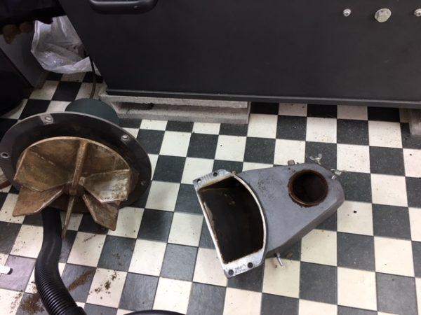 自家焙煎珈琲丸喜 フジローヤルロースターR-105 冷却モーター