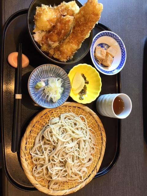 手打ち蕎麦 源 穴子小天丼と二八蕎麦(1,500円)