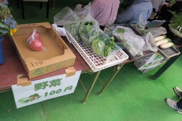 板山活き行きサロン 1周年感謝デー 新鮮でお値打ちなお花や野菜