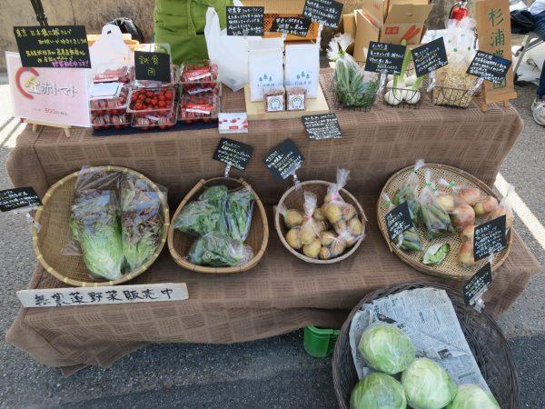 半田運河HOTORIの朝市 野菜