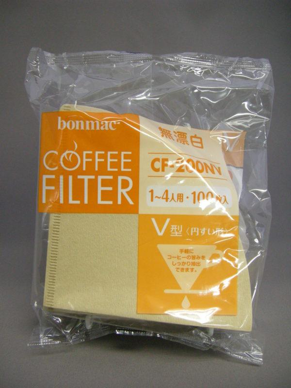 ボンマック V型フィルター 無漂白(100枚入り)