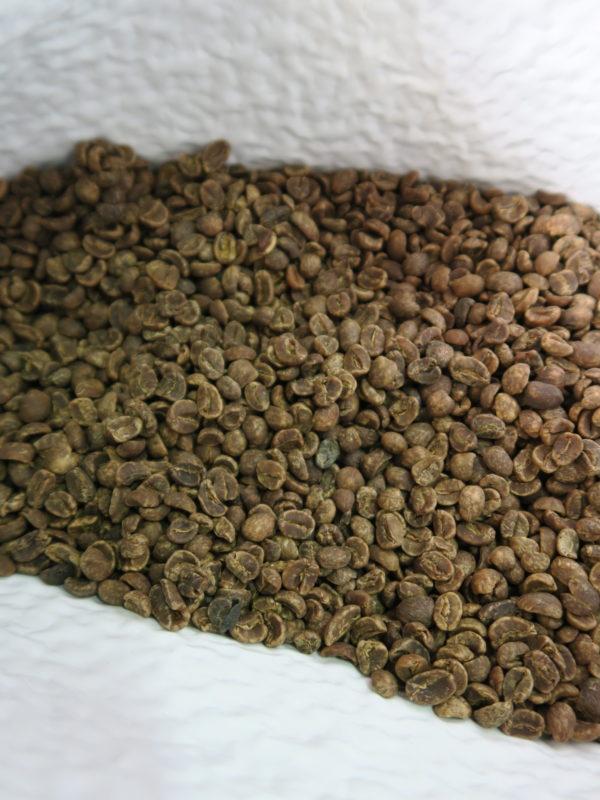 メキシコデカフェ(チアパス・カフェインレス)有機JASオーガニック認証生豆は黒ずんでます
