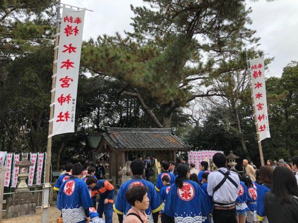 元旦恒例の初詣 常滑 樽水本宮神社1