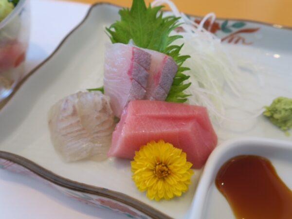 武豊町 旬の魚 喜福 浜ランチ お刺身2種盛