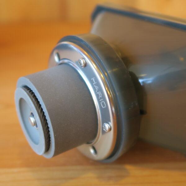 ハリオHARIOクリアコーヒーグラインダー 臼刃はセラミック製